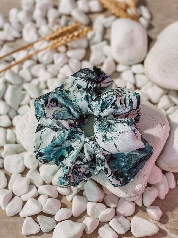 MINT HAIR SCRUNCHIE
