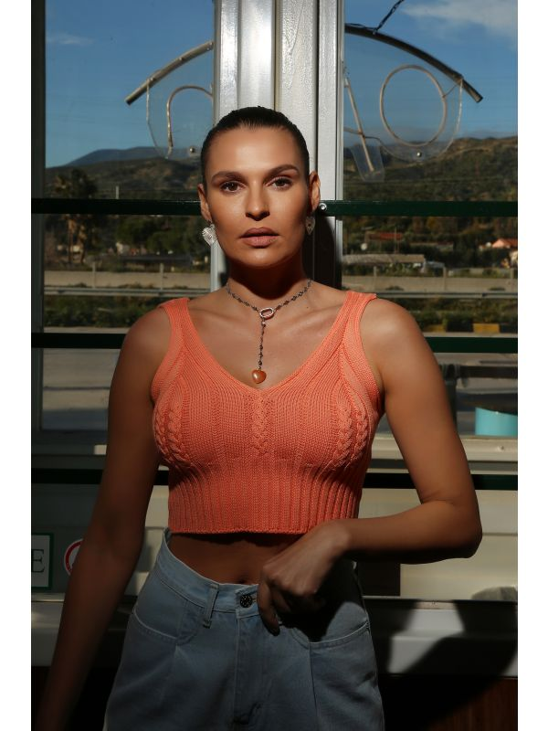 ISABEL PEACH TOP