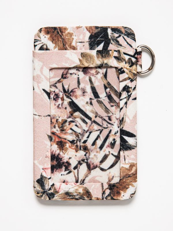 LIMITED EDITION PINK FLORAL CARD  WALLET
